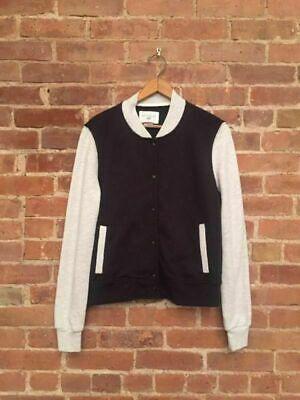 Sol Angeles Women's Baseball Style Jacket Sz Small, Black/Gray