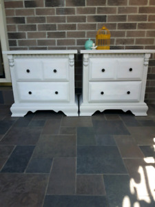 Pair of solid wood Nightstands / Bed Side tables
