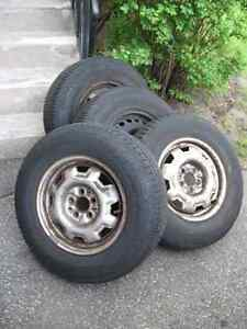 [4] Four 195-75R-14 A/S Tires on Rims