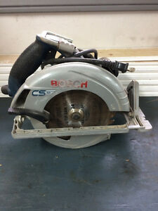 Bosch circular saw and Reddy heater.