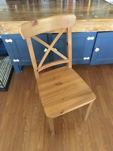 IKEA ingolf crossback dining chairs (set of 6)