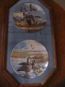 Framed Canadian Plates by Donald Pentz