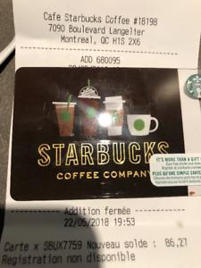 50$ Starbucks Gift-Card / Carte Cadeaux