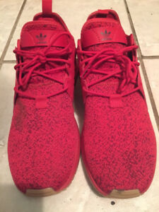 Red Adidas Shoes, breathable material