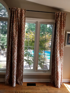 2 Sets of Lined Drapes