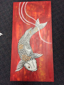 Original koi painting