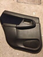 02-07 subaru wrx rear driver door panel