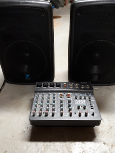 Yorkville M8 Mixer and Professional Speakers