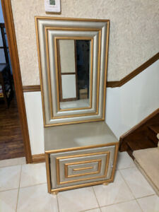 Storage Cabinet and Mirror