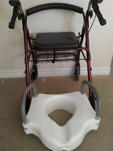 Free Walker and Toilet Seat Riser