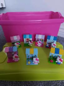 Hello Kitty Mega Bloks play sets x7