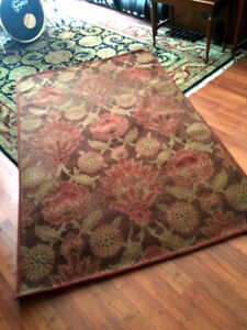- Beautiful Muted Red Antique Style Rug 92 x 58 - 100% Cotton -
