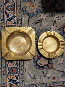 Two Beautiful Brass Ashtrays For Sale!