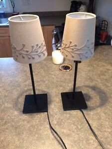 Matching desk / end table lamps