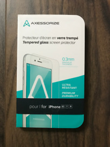 New Axessorize tempered glass screen protector for iPhone 6S, 7