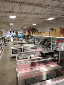 Bakery cases, refrigerated cases, dry cases, butcher displays,
