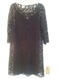 Black lace Monsoon dress