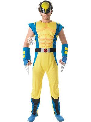 Adult Marvel DLX Wolverine Outfit Fancy Dress Costume Halloween Superhero X Men ()