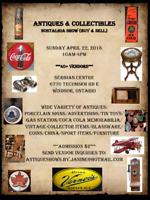 ANTIQUES & COLLECTIBLES Nostalgia Show ~ Windsor, Ontario