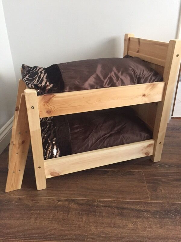 Wooden cats small pet cat bunk beds pet bed in plymouth for Pet bunk bed gallery