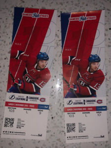 Billets Canadiens vs. Tampa Bay - 3 novembre 2018