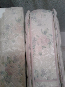 Pillow top queen mattress and boxspring set for sale