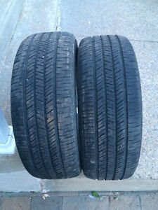 2 PNEUS / 2 ALL SEASON TIRES  225/60/16 GOODYEAR INTEGRITY