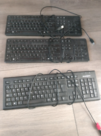 Computer keyboard wired X 3