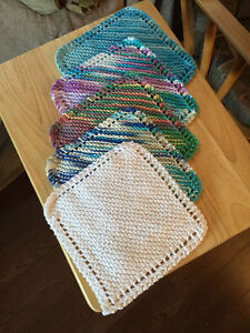 Knitted dish cloths Cambridge Kitchener Area image 1