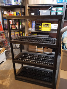 Plastic Shelving - $50.00 Each (Have FOUR in total)