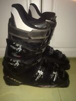 Lange black and silver AC 6 downhill skis boots size 8