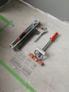 Tile cutter and floor roller