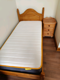 Single bed and matching side table