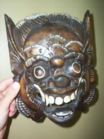 """decorative """"diablo"""" wood mask for wall mount"""