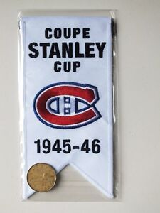 CENTENNIAL STANLEY CUP 1945-46 BANNER MONTREAL CANADIENS HABS Gatineau Ottawa / Gatineau Area image 2