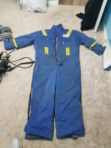 One piece insulated coveralls extra large