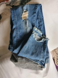Maternity jeans x3
