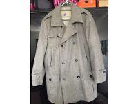 Designer wool men's coat