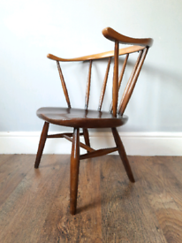 Ercol Cowhorn Fireside Low Chair Vintage Retro Delivery Available