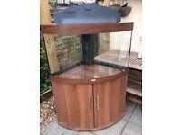 Large 190 litre corner fish tank