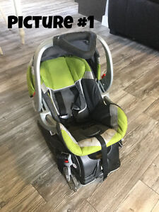 Baby Stuff- car seats, Exersaucer, activity table and bedding