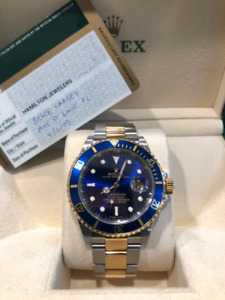 Pre-owned 2009 Rolex Submariner Two Tone 16613 Watch