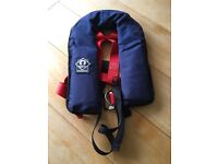 Crewsaver Junior automatic lifejacket with harness - blue