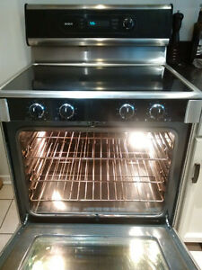 "30"" Bosch Stainless Steel Electric Range and Air King Fume hood"