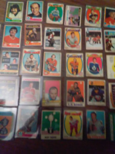 Old hockey cards from.early 70 and late 60