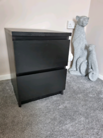 x2 IKEA Malm bedside tables with drawers