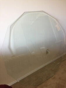 Table Top - Beveled Clear Glass - Top Quality