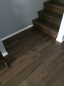 Solid Brushed Red Oak Hardwood : 140 sq ft