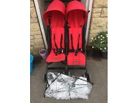 Obaby double buggy with rain cover
