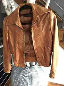 Manteau en cuir Mackage tan